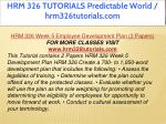 hrm 326 tutorials predictable world 31
