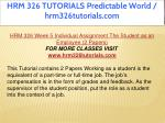 hrm 326 tutorials predictable world 32