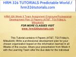hrm 326 tutorials predictable world 33