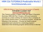 hrm 326 tutorials predictable world 34