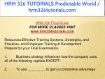 hrm 326 tutorials predictable world 5
