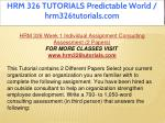 hrm 326 tutorials predictable world 9