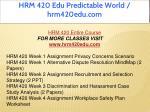 hrm 420 edu predictable world hrm420edu com 1
