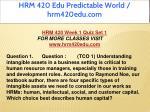 hrm 420 edu predictable world hrm420edu com 10