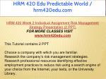 hrm 420 edu predictable world hrm420edu com 20