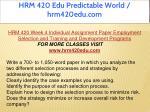 hrm 420 edu predictable world hrm420edu com 41