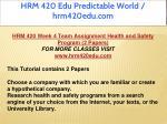 hrm 420 edu predictable world hrm420edu com 43