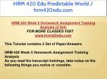 hrm 420 edu predictable world hrm420edu com 49