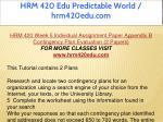hrm 420 edu predictable world hrm420edu com 50