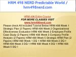 hrm 498 nerd predictable world hrm498nerd com 1