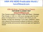 hrm 498 nerd predictable world hrm498nerd com 3