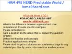 hrm 498 nerd predictable world hrm498nerd com 4