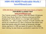 hrm 498 nerd predictable world hrm498nerd com 5