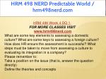 hrm 498 nerd predictable world hrm498nerd com 9