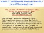 hrm 420 homework predictable world hrm420homework 12