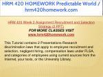 hrm 420 homework predictable world hrm420homework 15