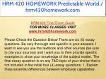 hrm 420 homework predictable world hrm420homework 2