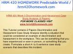 hrm 420 homework predictable world hrm420homework 23