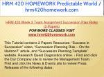 hrm 420 homework predictable world hrm420homework 29