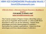 hrm 420 homework predictable world hrm420homework 3