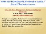 hrm 420 homework predictable world hrm420homework 34
