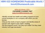 hrm 420 homework predictable world hrm420homework 35