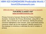 hrm 420 homework predictable world hrm420homework 4