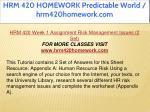 hrm 420 homework predictable world hrm420homework 5
