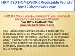 hrm 420 homework predictable world hrm420homework 50