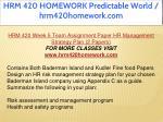 hrm 420 homework predictable world hrm420homework 51