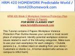 hrm 420 homework predictable world hrm420homework 52
