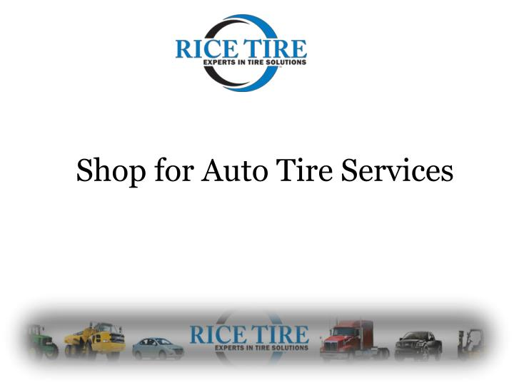 shop for auto tire services n.
