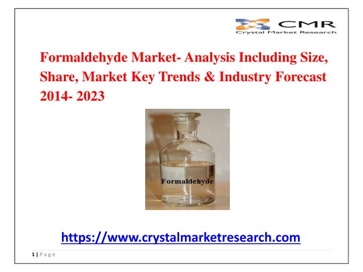 formaldehyde market analysis including size share n.