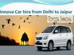 innova car hire from delhi to jaipur