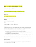 bsn 4017 unit 8 discussion latest