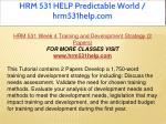 hrm 531 help predictable world hrm531help com 16