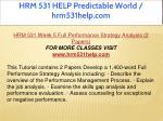 hrm 531 help predictable world hrm531help com 20