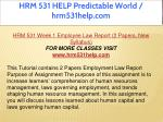 hrm 531 help predictable world hrm531help com 4