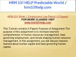 hrm 531 help predictable world hrm531help com 5