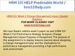 hrm 531 help predictable world hrm531help com 7
