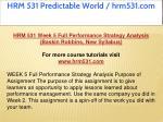 hrm 531 predictable world hrm531 com 21