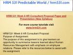 hrm 531 predictable world hrm531 com 22