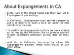 about expungements in ca