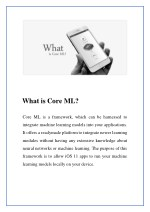 what is core ml