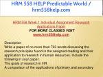 hrm 558 help predictable world hrm558help com 4
