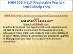 hrm 558 help predictable world hrm558help com 7