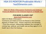 hsa 515 mentor predictable world hsa515mentor com 10