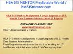 hsa 515 mentor predictable world hsa515mentor com 11
