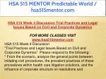 hsa 515 mentor predictable world hsa515mentor com 12