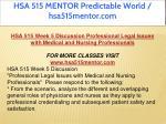 hsa 515 mentor predictable world hsa515mentor com 13